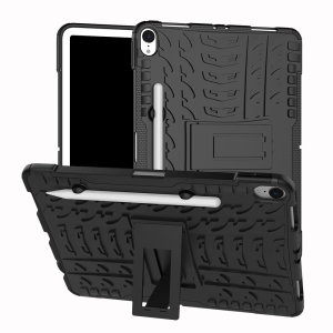 Protect your Apple iPad Pro 11.0 2018 from bumps and scrapes with this black ArmourDillo case. Comprised of an inner TPU case and an outer impact-resistant exoskeleton, the ArmourDillo provides robust protection and supreme styling.