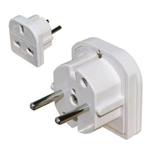 Pama UK - EU Compact Travel Adaptor - White