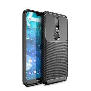 Olixar Carbon Fibre case is a perfect choice for those who need both the looks and protection! A flexible TPU material is paired with an eye-catching carbon print to make sure your Nokia 7.1 is well-protected and looks good in any setting.