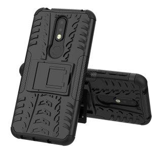 Protégez votre Nokia 7.1 des chocs et des éraflures grâce à cette coque Olixar ArmourDillo en coloris noir. Cette coque est composée d'un boîtier interne en TPU et d'un exosquelette externe résistant aux impacts. Elle comprend par ailleurs un support de visualisation intégré.