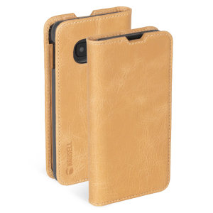 Krusell's Sunne 2 Card Folio wallet vegan leather case in Vintage Nude combines Nordic chic with Krusell's values of sustainable manufacturing for the socially-aware Samsung S10e owner who seeks 360° protection with extra care for the environment.