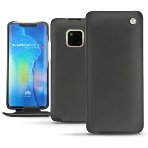 Keep your Huawei Mate 20 Pro well protected from damage with this high quality, beautifully hand-crafted genuine black leather Perpetuelle flip case from Noreve. The perfect blend of premium style and functionality.