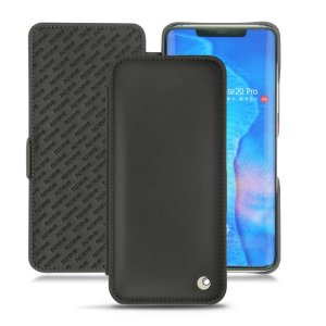 Keep your Huawei Mate 20 Pro well protected from damage with this high quality, beautifully hand-crafted genuine black leather flip case from Noreve. The perfect blend of premium style and functionality.