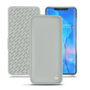 Keep your Huawei Mate 20 Pro well protected from damage with this high quality, beautifully hand-crafted genuine light grey leather flip case from Noreve. The perfect blend of premium style and functionality.