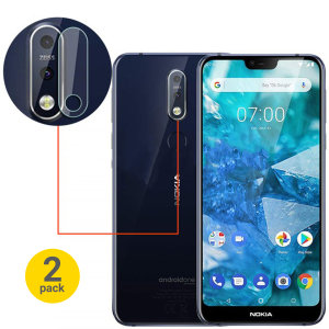 Dit 2-pack ultradun geharde glazen achtercamera beschermers voor de Nokia 7.1 van Olixar biedt taaiheid en superieure helderheid voor uw fotografie in één pakket.