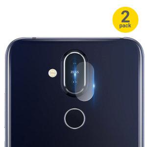 Dieses 2er Pack (2 Doppel und 2 Einfach) an ultradünnem Kameraschutz für die Rückseite deines Nokia 8.1 von Olixar bietet Ihnen eine hohe Widerstandsfähigkeit und eine umwerfende Klarheit, um alles aus der scharfen Kamera des Smartphones herauszuholen während sie geschützt ist.