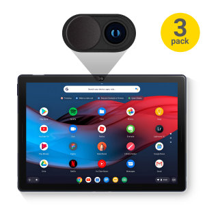 Beat the hackers with this 3 pack of stainless steel webcam covers for your Google Pixel Slate. Quickly gain or deny access to your devices' camera with this sliding cover. An easy low tech solution to a high tech problem.