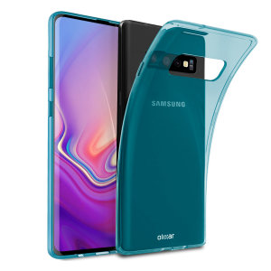 Custom moulded for the Samsung Galaxy S10, this blue FlexiShield case by Olixar provides slim fitting and durable protection against damage.