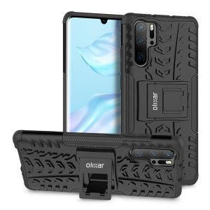 Protégez votre Huawei P30 Pro des chocs et des éraflures grâce à cette coque Olixar ArmourDillo en coloris noir. Cette coque est composée d'un boîtier interne en TPU et d'un exosquelette externe résistant aux impacts. Elle comprend par ailleurs un support de visualisation intégré.