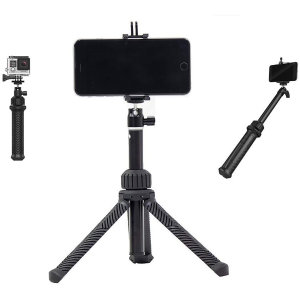 This compact 4 in 1 tripod from PolarPro can instantly transform into either a GoPro tripod, pole, grip and even a handy stand. The Trippler Tripod also comes with a mount so that you can record from via your action camera or your smartphone.