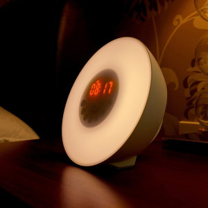 With 7 colours and nature sounds to choose this colour changing sunrise alarm clock is the perfect night light, alarm clock and reading lamp to delight children and adults alike.