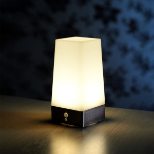 AuraGlow Motion Sensor table light is ideal for anywhere at home to delight children and adults alike. Perfect for a night light, providing a warm glow of light.