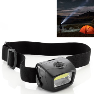 Light your way when exploring, hiking, trekking or fishing or simply relaxing with friends outdoors. This cool white, well-made and well-fitting headlamp from Auraglow emits 120 lumens and is powered by three AAA batteries.