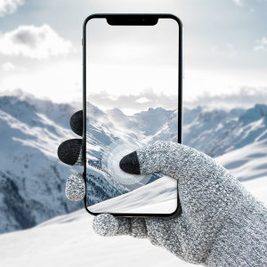 The Smart TouchTip Unisex Gloves in light grey from Olixar allow you to operate your touchscreen device while wearing gloves, so you have full use of your smartphone or tablet outside and still keep your hands warm. Medium Size.