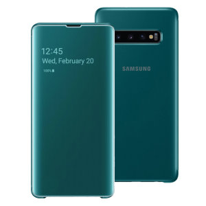 This Official Samsung Clear View Cover in Green is the perfect way to keep your Galaxy S10 Plus smartphone protected whilst keeping yourself updated with your notifications thanks to the clear view front cover.