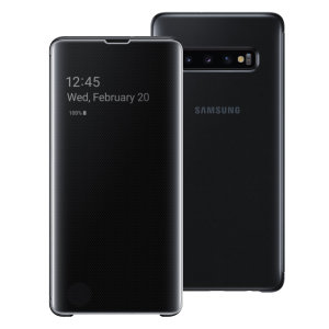 This Official Samsung Clear View Cover in Black is the perfect way to keep your Galaxy S10 Plus smartphone protected whilst keeping yourself updated with your notifications thanks to the clear view front cover.