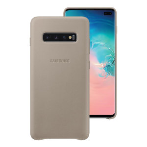 This Official Samsung Leather Cover in Grey is the perfect way to keep your Galaxy S10 Plus smartphone protected.