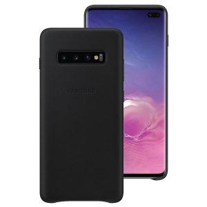 Dieses offizielle Samsung Lederetui in Schwarz ist der perfekte Schutz für Ihr Galaxy S10 Plus Smartphone und hält Sie gleichzeitig über Ihre Benachrichtigungen auf dem Laufenden.