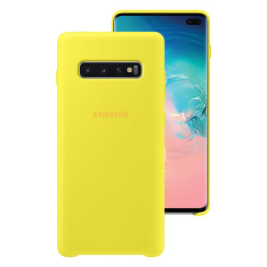 Protect your Samsung Galaxy S10 Plus with this Official silicone case in Yellow. Simple yet stylish, this case is the perfect accessory for your Galaxy S10 Plus.