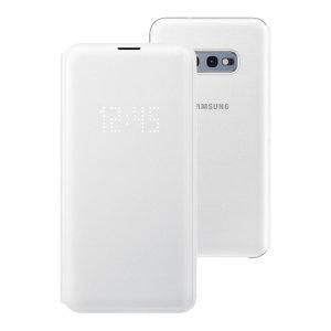 Añada protección a su Samsung Galaxy S10e y manténgase al día de sus notificaciones sin abrir la tapa con esta fantástica funda LED Flip Wallet Cover fabricada por Samsung.