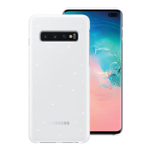 Protect your Samsung Galaxy S10 Plus from harm with the intuitive Emotional LED Lighting Effect official case from Samsung in white.