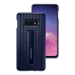 La Protective Stand Cover officielle Samsung Galaxy S10e en coloris bleu est une coque robuste et élégante, tout simplement idéale pour protéger votre nouveau smartphone au quotidien.