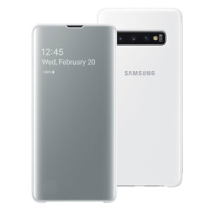 This Official Samsung Clear View Cover in White is the perfect way to keep your Galaxy S10 smartphone protected whilst keeping yourself updated with your notifications thanks to the clear view front cover.