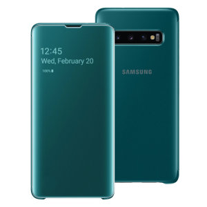The Official Samsung Clear View Cover is the perfect way to keep your Galaxy S10 protected whilst keeping yourself updated with your notifications due to the clear view front cover. This case has many features such as wireless charging and more.