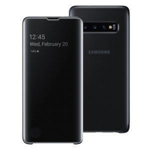 This Official Samsung Clear View Cover in Black is the perfect way to keep your Galaxy S10 smartphone protected whilst keeping yourself updated with your notifications thanks to the clear view front cover.