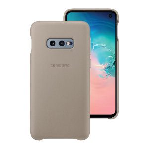 This Official Samsung Genuine Leather Wallet Cover in grey is the perfect way to keep your Galaxy S10e smartphone protected.