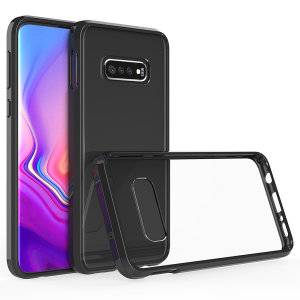 Custom moulded for the Samsung Galaxy S10. This black Olixar ExoShield tough case provides a slim fitting stylish design and reinforced corner shock protection against damage, keeping your device looking great at all times.