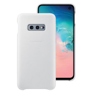 This Official Samsung Genuine Leather Wallet Cover in white is the perfect way to keep your Galaxy S10e smartphone protected.