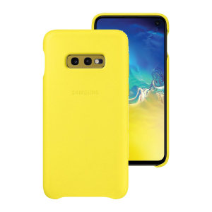 This Official Samsung Genuine Leather Wallet Cover in yellow is the perfect way to keep your Galaxy S10e smartphone protected.