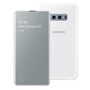 Dieses offizielle Samsung Clear View Cover in Weiß ist der perfekte Weg, um Ihr Galaxy S10e Smartphone zu schützen und sich gleichzeitig mit Ihren Benachrichtigungen auf dem Laufenden zu halten, dank der transparenten Frontabdeckung.