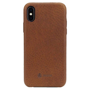 Designed for the iPhone X and Xs, this Chesnut Brown genuine Italian leather case from Nodus provides a perfect fit and durable protection against scratches, knocks and drop style.