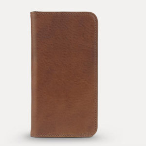 Designed for the iPhone Xs Max, this Chesnut Brown genuine Italian leather wallet case from Nodus provides a perfect fit and durable protection against scratches, knocks equipped with an inner pocket for essential cards, IDs, and etc.
