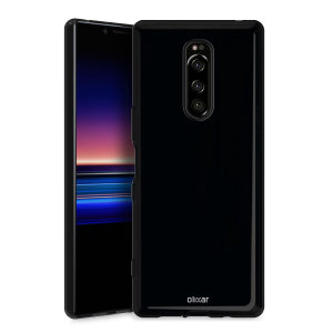 Custom moulded for the Sony Xperia 1, this solid black Olixar FlexiShield case provides a slim fitting stylish design and durable protection against damage, keeping your device looking great at all times.