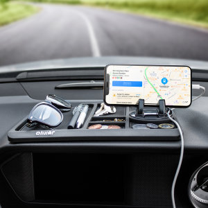 The Olixar Non-Slip Sticky Dashboard Mat provides your smartphone with a secure resting place on your car's dashboard and can also be used to hold keys, change and many other items, without leaving any residue behind.
