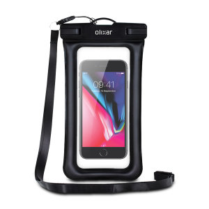 The Olixar Action Universal Waterproof Case for Smartphones is a protective case providing 100% smartphone waterproofing and touchscreen operation up to a size of 6.8 inches for activities that require near water or even underwater adventures.