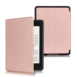 This stylish rose gold leather-style folio case from Olixar will protect your Kindle Paperwhite 4 (2018) from all kinds of knocks. The featured hand strap also makes it very easy to use.