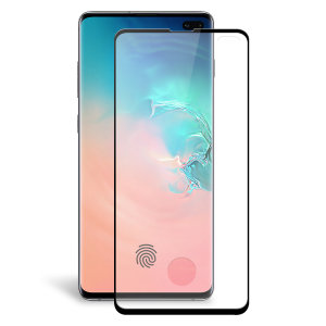 Keep your Samsung Galaxy S10 Plus' screen in pristine condition with this Olixar Tempered Glass curved screen protector, designed for full coverage of your phone's screen. This design leaves enough space for a case too.