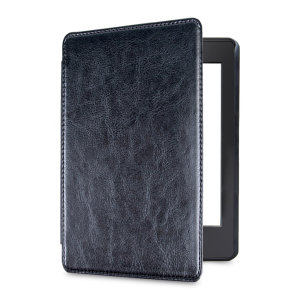 This stylish black leather-style folio case from Olixar will protect your Kindle Paperwhite 4 (2018) from all kinds of knocks. The featured hand strap also makes it very easy to use.