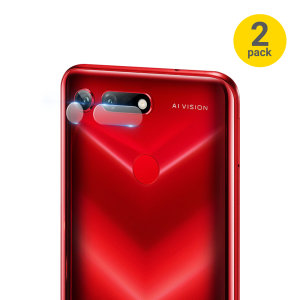 This 2 pack of ultra-thin tempered glass rear camera protectors for the Huawei Honor View 20 from Olixar offers toughness and superb clarity for your photography all in one package.