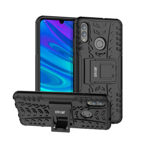 Protect your Huawei P Smart 2019 from bumps and scrapes with this black ArmourDillo case. Comprised of an inner TPU case and an outer impact-resistant exoskeleton, the ArmourDillo provides robust protect