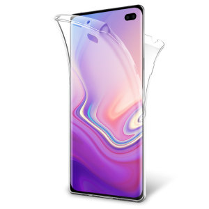 At last, a Samsung Galaxy S10 Plus case that offers all around front, back and sides protection and still allows full use of the phone. The Olixar FlexiCover in crystal clear is the most functional and protective gel case yet.