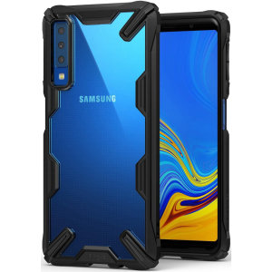Keep your Samsung Galaxy A7 protected from bumps and drops with the Rearth Ringke Fusion X tough case in Black. Featuring a 2-part, Polycarbonate design, this case lives up to military drop-test standards so you can rest assured that your device is safe