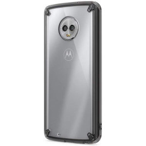 Secure your device with the highest quality clear Motorola Moto G6 Case in Smoke Black. With the shock absorption technology and premium thermoplastic polyurethane bumpers for the easy grip, this case provides the maximum protection for your phone.