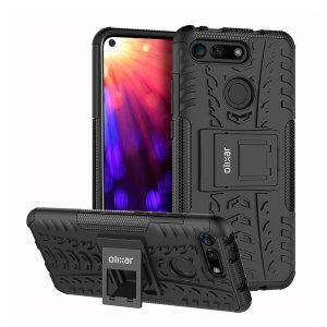 Protégez votre Huawei Honor V20 des chocs et des éraflures grâce à cette coque Olixar ArmourDillo en coloris noir. Cette coque est composée d'un boîtier interne en TPU et d'un exosquelette externe résistant aux impacts. Elle comprend par ailleurs un support de visualisation intégré.