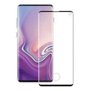 Das gehäusekompatible 3D-Glas von Eiger, das den ultimativen Bildschirmschutz für das Samsung Galaxy S10 bietet, besteht aus hochwertigem Echtglas mit abgerundeter Kante und Splitterschutzfolie.