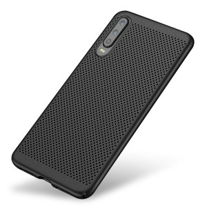 A supremely precision engineered lightweight slimline case in tactical black with a perforated mesh pattern that looks great, adds grip and aids heat dissipation from your Huawei P30, as well as enhance the high performance beauty of the device.